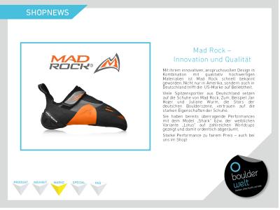Shopnews. MadRock als Marke auch bei uns im Shop.