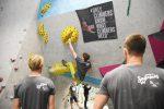 Spaßwettkampf Veranstaltung Soulmoves Süd 10.2 mit Bouldern und Klettern in der Boulderwelt Regensburg