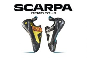 am 15.10.2021 ist die Scarpa Demo Tour mit jeder Menge Schuhe zum Testen zu Gast in der Boulderwelt Regensburg